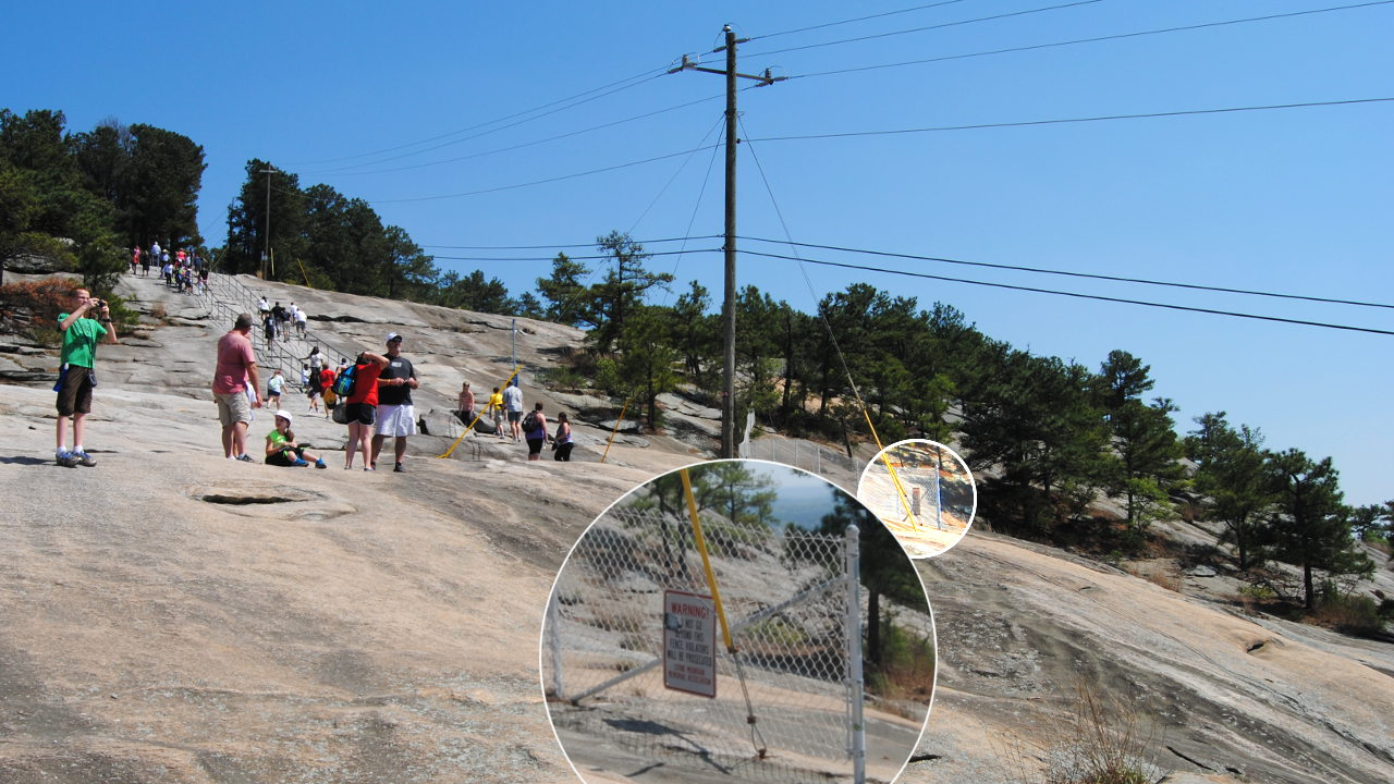 Fence At Stone Mountain - photo credit Steve Dwire