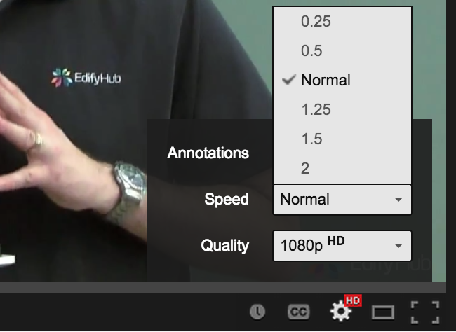 YouTube Playback Speed Control